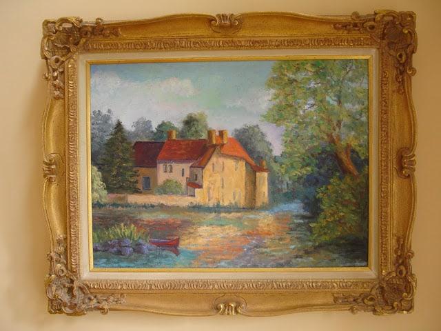 WorthingCourt.blogspot.com: Oil Painting of Tuscan Villa