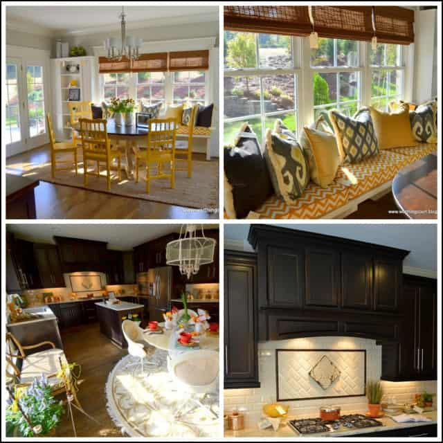 Two showhouse kitchens, laundry rooms and mudrooms