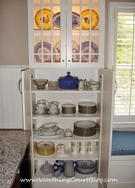 Custom kitchen dish cabinet