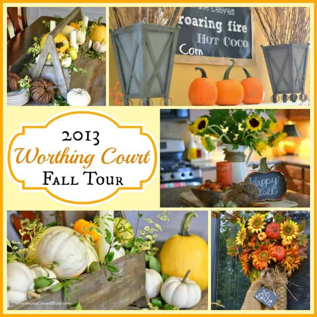 Fall decorating ideas and home tour :: WorthingCourtBlog.com