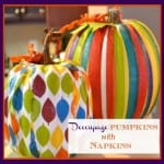 Pumpkin Craft: Decoupage With Decorative Napkins on Pumpkins
