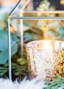 mercury glass candle votive