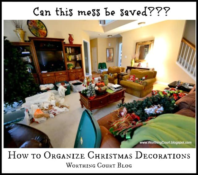 An easy, common sense approach to organizing Christmas decorations. No fuss and nothing fancy. This will make your life so much simpler!