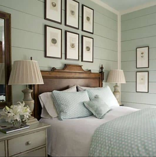 """Loads of tips for how to organize, decorate and add style to a small bedroom. Want some color on your walls? Consider using a soft color - a bright, bold color can be """"in your face"""" in a small bedroom. Be sure to repeat the color throughout the room for a cohesive look."""