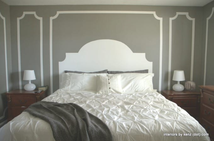 Loads of tips for how to organize, decorate and add style to a small bedroom. If you have absolutely no room for even a headboard, paint one instead. This is a really thrifty option too!