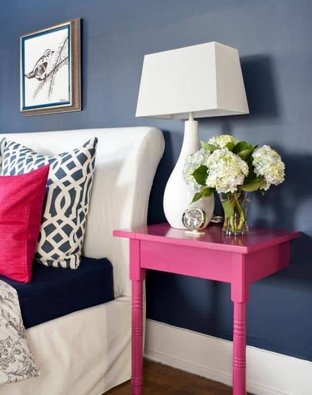 Loads of tips for how to organize, decorate and add style to a small bedroom. Don't have room for a full size end table? How about cutting a table in half (or even smaller) and attaching it to the wall with small angle irons.
