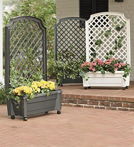 Loads of tip for how to create an inviting outdoor space. These self-watering outdoor planters are awesome! They're on wheels (which you can lock in place), so they can easily be moved around. Available in three colors - white, charcoal and green. With free shipping and a $30 savings when you order more than one planter, they're a great bang for your buck.