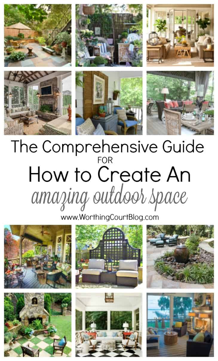 Loads of tips and ideas for how to create an amazing outdoor space!