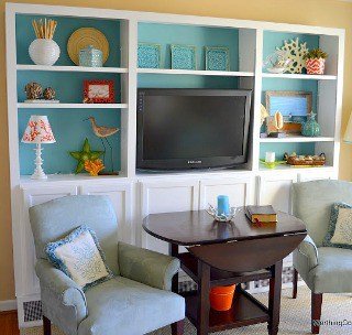 DIY Bookcases Using Kitchen Cabinets