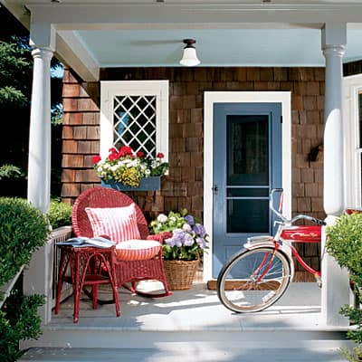 Patriotic Red, White and Blue porch