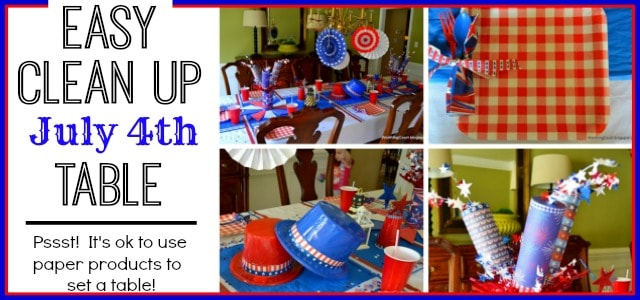 Happy July 4th and My Mostly Dollar Store Table