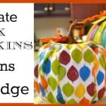 Pumpkin Craft: Decoupaged Pumpkins Using Decorative Napkins
