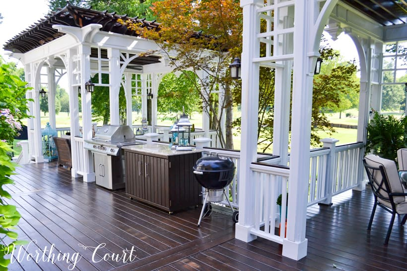 grilling area on deck