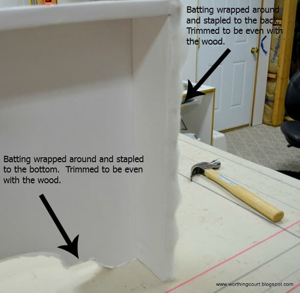 Step-by-step directions for making an upholstered cornice with professional results :: WorthingCourtBlog.com