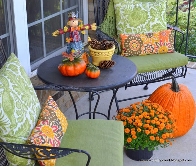 Fall vignette on the front porch