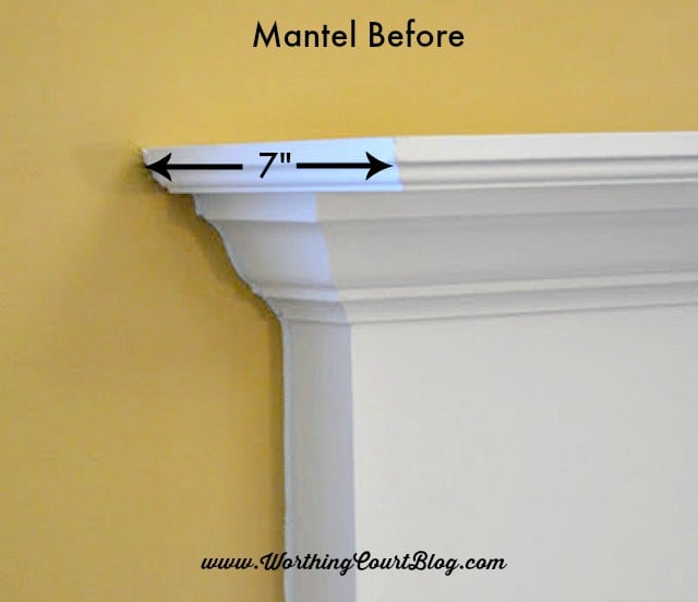 How to Easily Add Display Space to A Mantel - Worthing Court