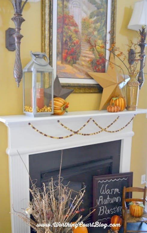 Fall mantel :: WorthingCourtBlog.com