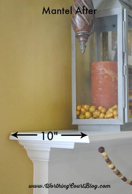 How to easily add display space to a mantel :: WorthingCourtBlog.com
