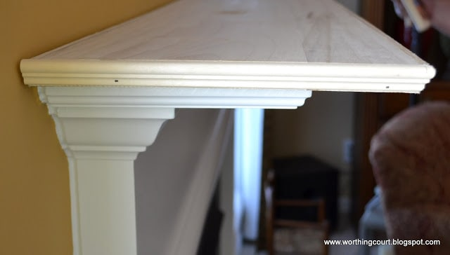 in process picture of turning a shallow mantle into a deeper mantle - via Worthing Court