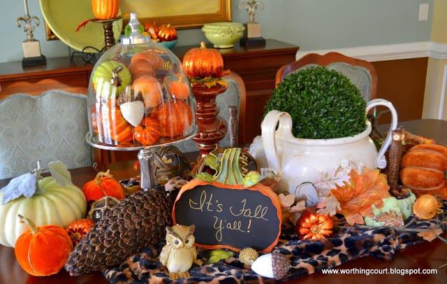 Fall centerpiece via Worthing Court blog