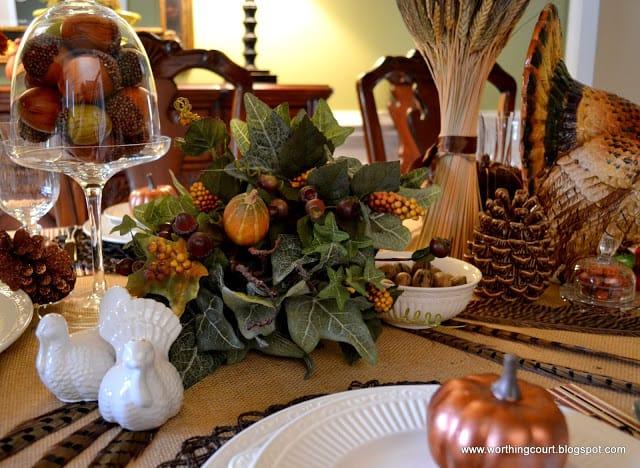 Thanksgiving table via Worthing Court blog