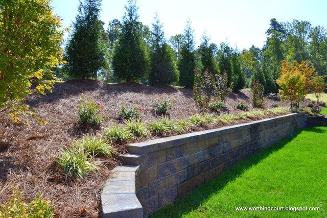 backyard retention wall via Worthing Court blog