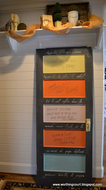 Door turned into a chalkboard via Worthing Court blog