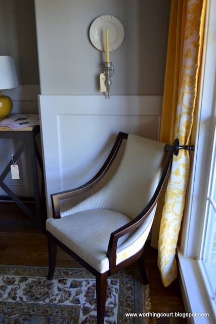 small sconce paired with a plate to beef it up via Worthing Court blog