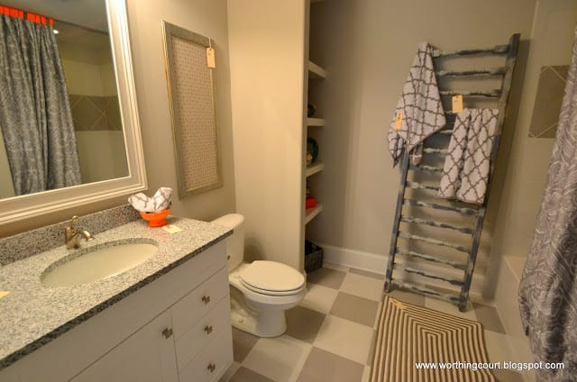 ladder towel holder via Worthing Court blog