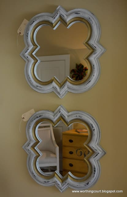 quatrefoil mirrors painted with chalk paint via Worthing Court blog