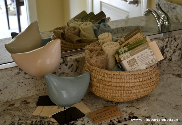 wash cloths in a basket via Worthing Court blog