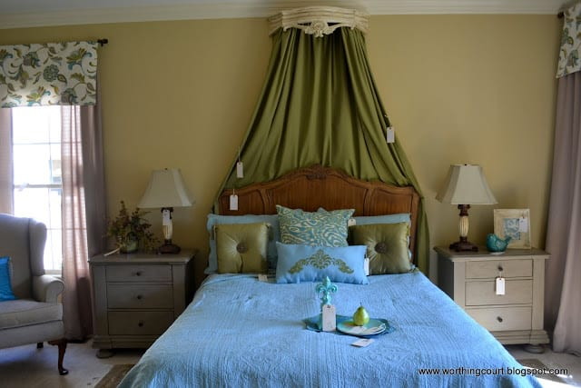 master bedroom bed crown via Worthing Court blog
