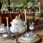 Rustic and Refined Christmas Dining Room