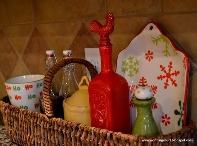Kitchen Christmas tree and decor via Worthing Court blog