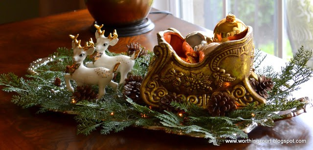 Worthing Court: Vintage silver tray filled with Christmas goodies