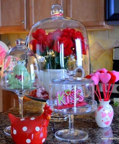 Worthing Court: Valentine's decorations