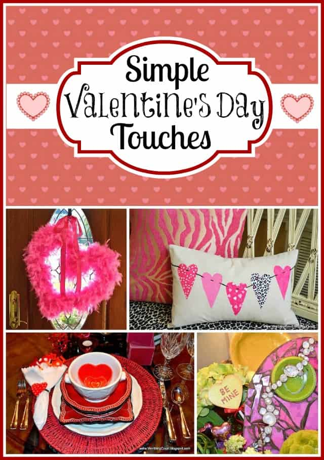 East Valentine's Day touches including directions for an easy-to-make feather boa wreath