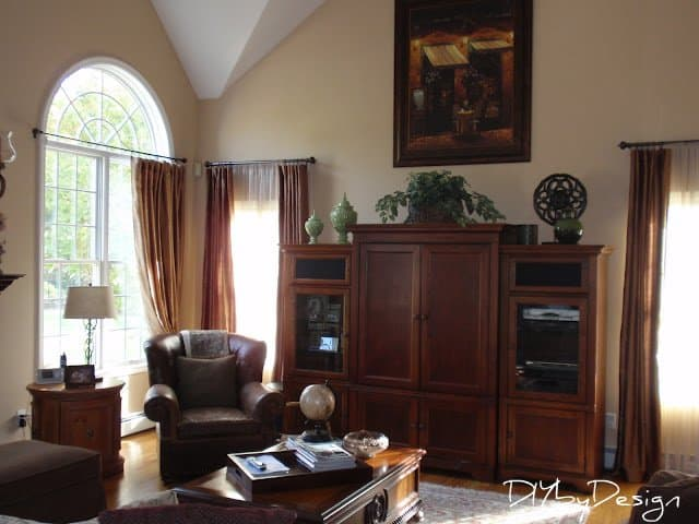 Next Up Is Our Family Room Which Also Off The Kitchen But On Other Side Color Wall Benjamin Moore Arizona Tan