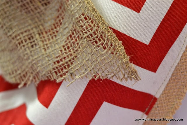 Worthing Court: diy burlap and chevron heart for Valentine's Day