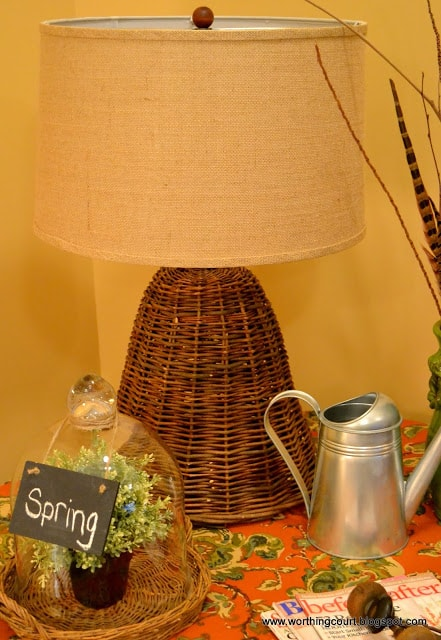 How to turn a wicker cloche into a lamp via Worthing Court blog
