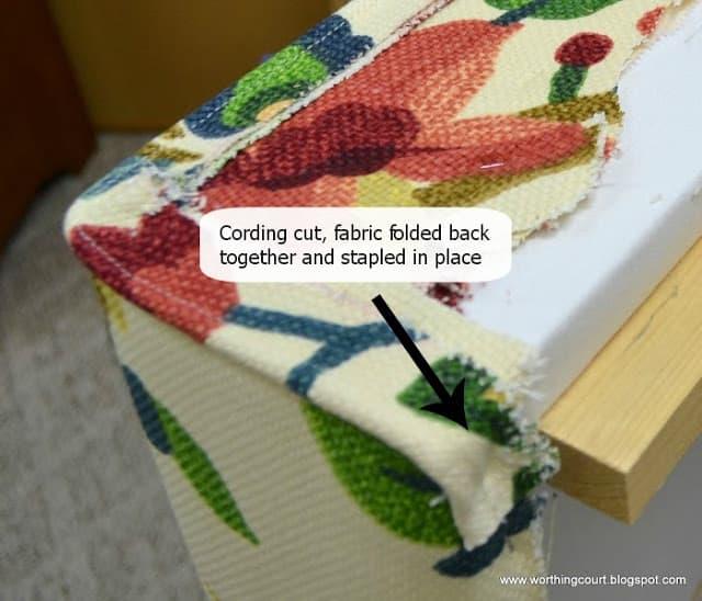 How to make an upholstered cornice via Worthing Court blog