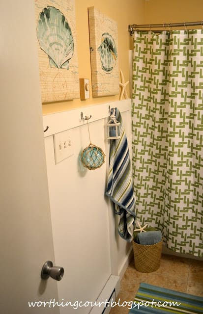 Beach Themed Bathroom Makeover