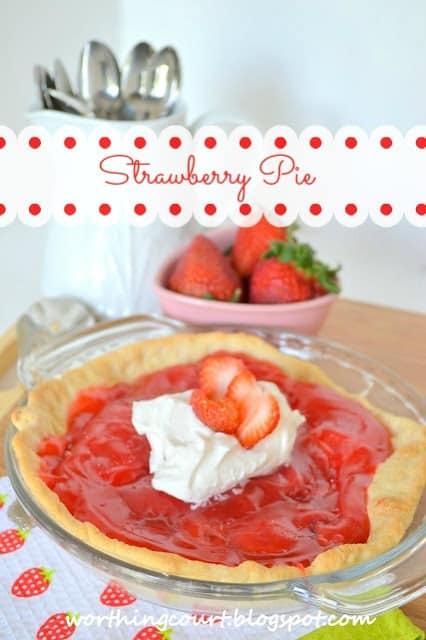 Strawberry Pie recipe from Worthing Court