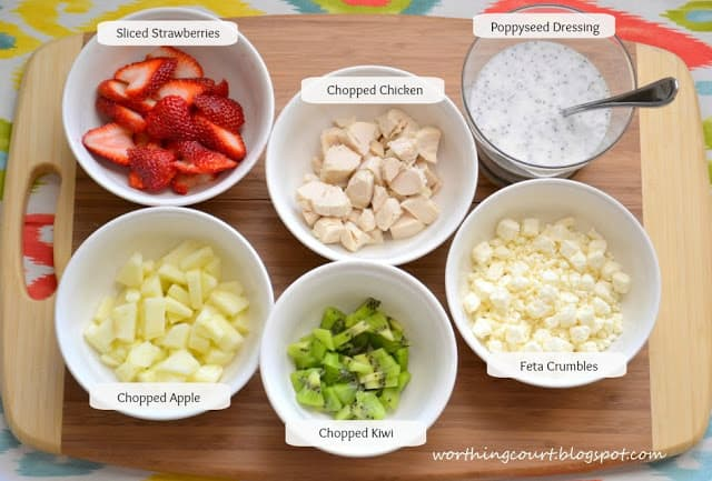 Ingredients for a tasty Strawberry Chicken Salad Recipe :: WorthingCourtBlog.com