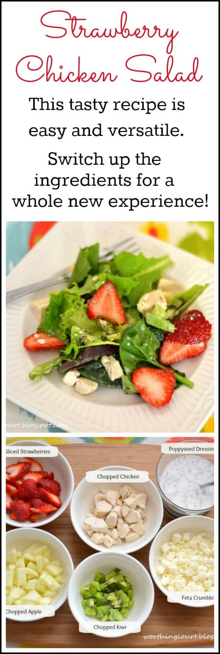 Strawberry Chicken Salad Recipe from WorthingCourtBlog.com