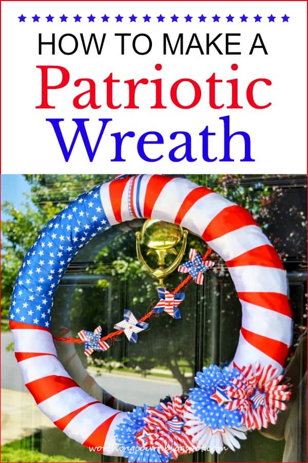 diy red white and blue patriotic wreath