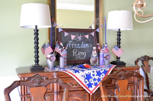 Patriotic July 4th Vignette