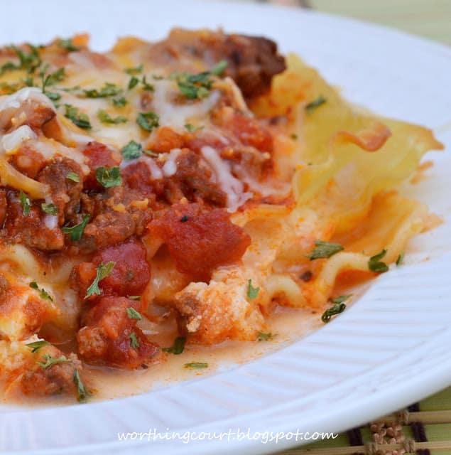 Recipe for my favorite lasagna
