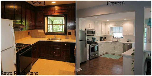Kitchen Before & After - w. text