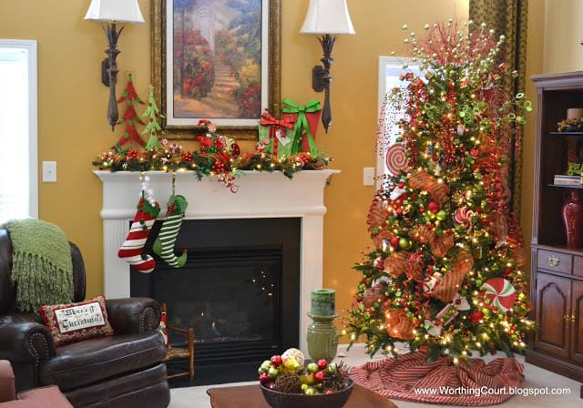 Our whimsical christmas tree worthing court - How to decorate living room for christmas ...